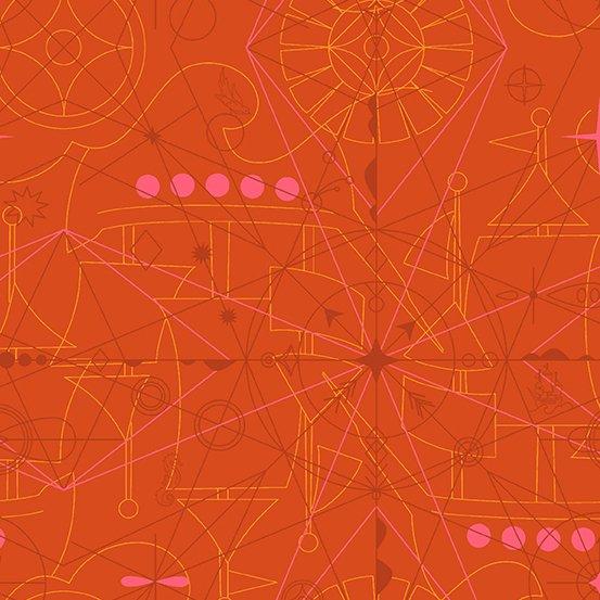 Alison Glass - Sun print 2018 Compass Marmalade 8673-O