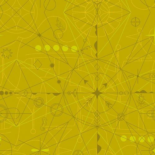 Alison Glass - Sun Print 2018 Compass Chartreuse 8673-Y