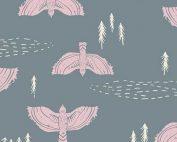 Art Gallery Fabric Lambkin Wind Observer Fog R-18724