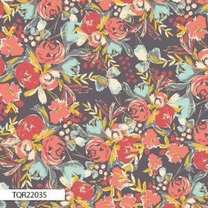 Art Gallery Fabric - Bari J Wild Bloom Flowerfield Sunset RAYON R22035