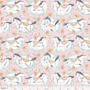Blend Fabric Ana Davis Hill & Dale Fillies Pink 113.113.01.1