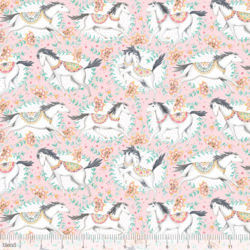 Blend Fabric Ana Davis Hill & Dale Fillies Pink 113.113.01.1