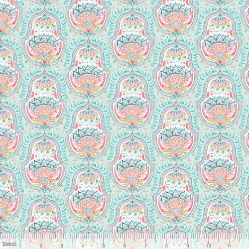 Blend Fabric Ana Davis Hill & Dale Belle Aqua 113.113.03.1