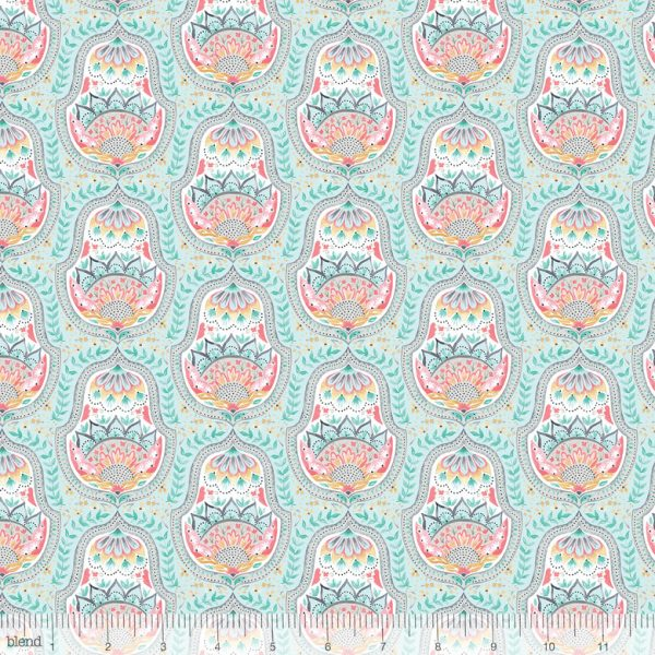 Blend Fabric Ana Davis Hill & Dale Belle Aqua 113.113.03.1