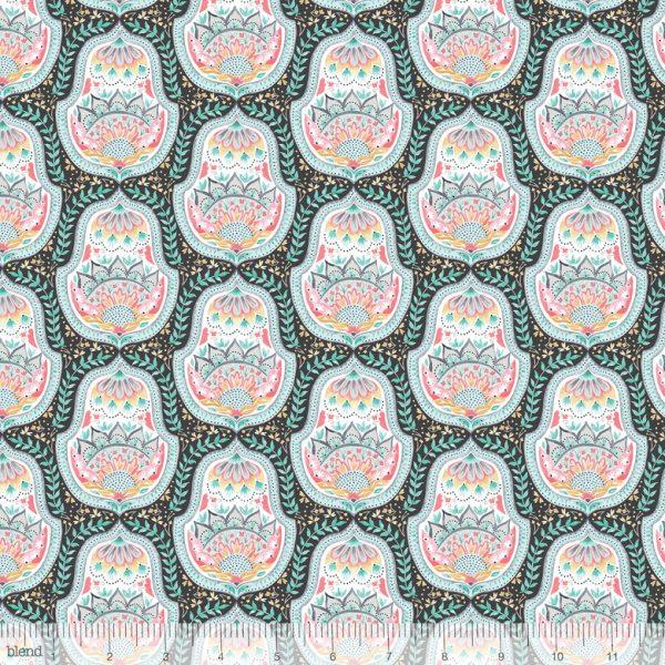 Blend Fabric Ana Davis Hill & Dale Belle Grey 113.113.03.2
