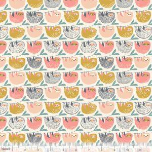 Blend Fabric Katy Tanis Rainforest Slumber Slumber of Sloths Pink 124.105.03.1