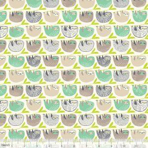 Blend Fabric Katy Tanis Rainforest Slumber Slumber of Sloths Taupe 124.105.03.2