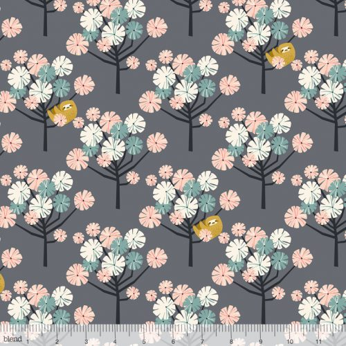 Blend Fabric Katy Tanis Rainforest Slumber Tree Dwellers Pink 124.105.05.1