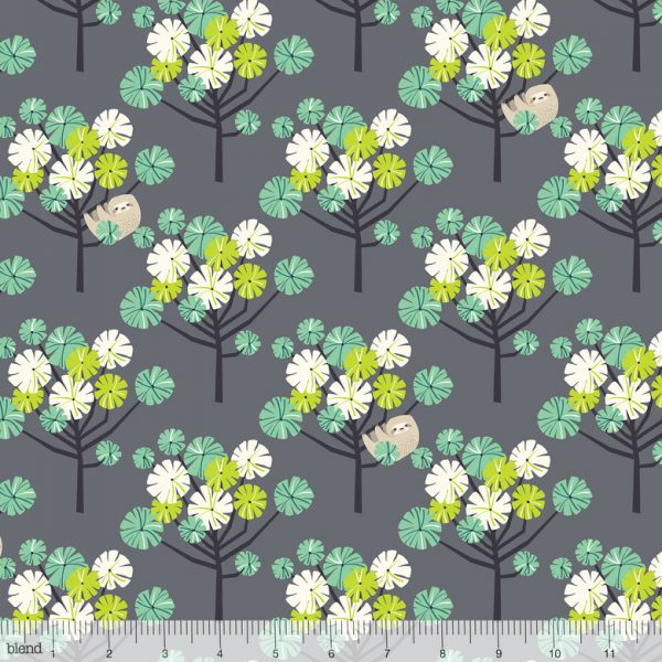 Blend Fabric Katy Tanis Rainforest Slumber Tree Dwellers Green 124.105.05.2