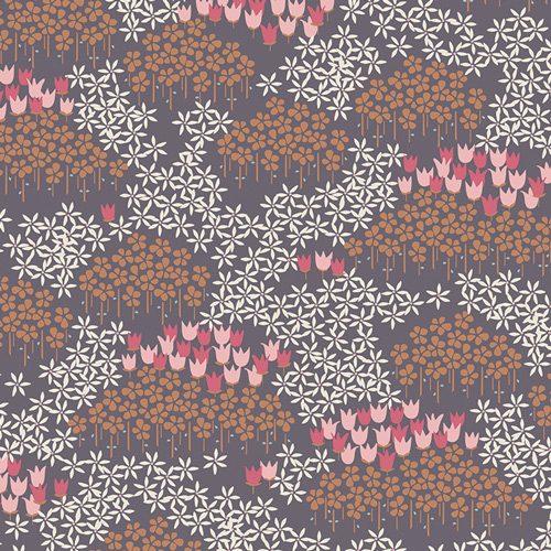 Art Gallery Fabrics Amy Sinibaldi - Dollhouse Tip Toe Dusk KNIT K-2080