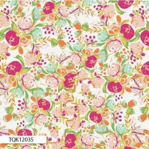 Art Gallery Fabrics - Wild Bloom Flowerfield Sunrise KNIT K-12035