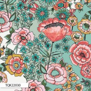 Art Gallery Fabrics Bari J Flower Shower Subtle KNIT K-22030