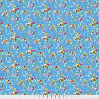 Free Spirit Jennifer Paganelli Sugar Beach Loopy Blue PWJP139.BLUE