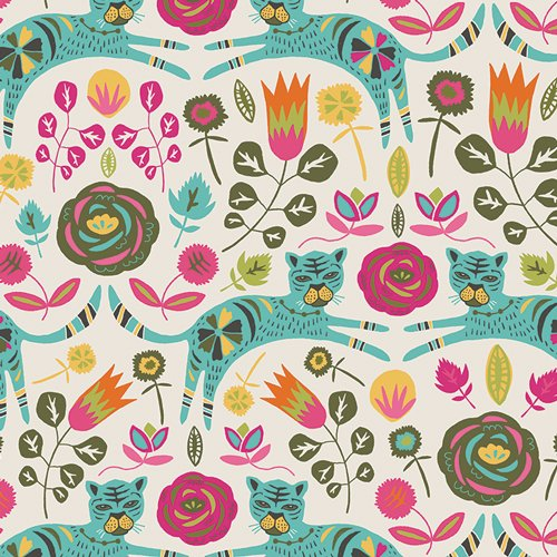 Art Gallery Fabric - Jessica Swift Tallinn Tigris Lollipop KNIT K-75300