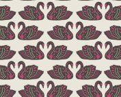 Art Gallery Fabric - Jessica Swift Tallinn Baltic Swans Sand KNIT K-75304