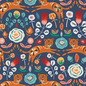 Art Gallery Fabric - Jessica Swift Tallinn Tigris Indigo TAL65300