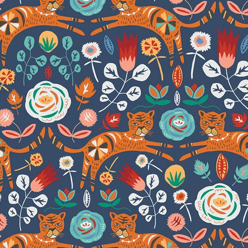 Art Gallery Fabric - Jessica Swift Tallinn Tigris Indigo TAL65300