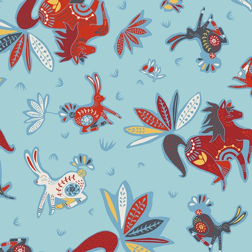 Art Gallery Fabric - Jessica Swift Tallinn Zirkusbau Primary TAL65305