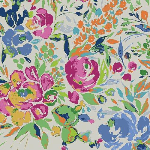 Bari J Art Gallery Indigo and Aster La Floraison Lit Knit K-14800