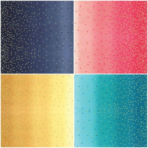 Ombre Confetti Dot Metallic