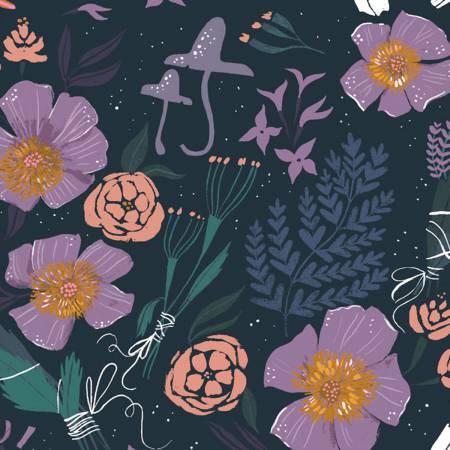 Dear Stella Magik Magik Floral Multi SRR877 - Quilting Fabric Australia