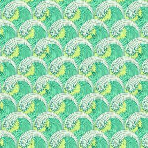 Tula Pink Zuma White Caps Seaglass PWTP122.SEAG - Fabric Australia