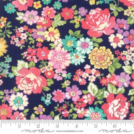 Moda Regent Street Lawn 2018 Chelsea Navy M33321-18 - Lawn Fabric Australia