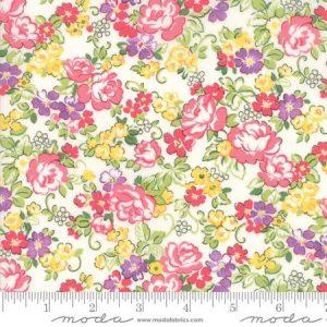 Moda Regent Street Lawn 2018 Hampton Court Ivory M33322-11 - Lawn Fabric Australia