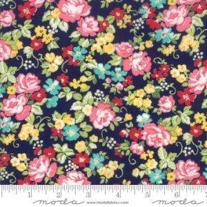 Moda Regent Street Lawn 2018 Hampton Court Navy M33322-16 - Lawn Fabric Australia