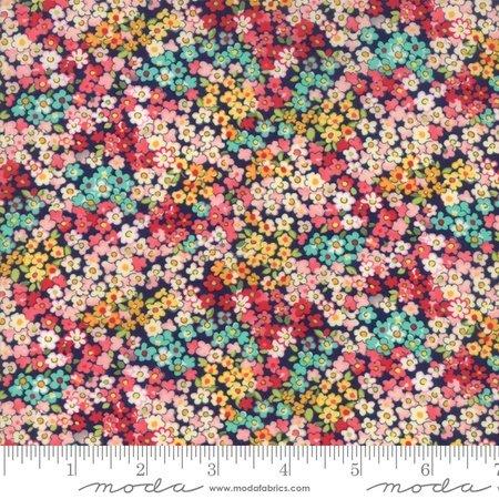 Moda Regent Street Lawn 2018 Camden Navy M33324-16 - Lawn Fabric Australia