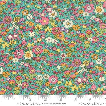 Moda Regent Street Lawn 2018 Kenwood Turquoise M33325-14 - Lawn Fabric Australia