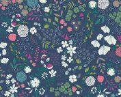 Art Gallery Maureen Cracknell Flower Child Blooming Ground Luscious FCD-67156 - Patchwork Fabric Australia