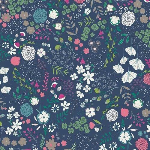 Art Gallery Maureen Cracknell Flower Child Blooming Ground Luscious FCD-67156 - Patchwork Fabric Australia