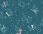 Art Gallery Maureen Cracknell Flower Child Prairie Fairies Night FCD-77153 - Quilting Fabric Australia