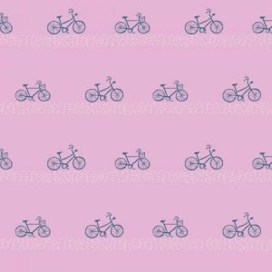 Dear Stella Seaside Carnival Boardwalk Bikes Crocus SRR931 - Quilting Fabric Australia