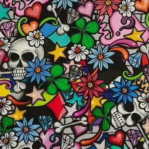 Alexander Henry Nicoles Prints Street Skull Multi 8644A