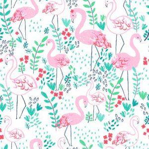 Dear Stella Lifes a beach Let's Flamingle White ST-951WHT
